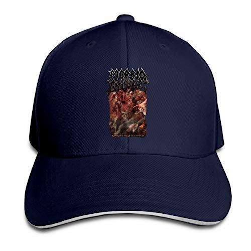 Corrine-S Morbid Angel Kingdoms Disdained Outdoor Visor Cotton Hat Adjustable Navy