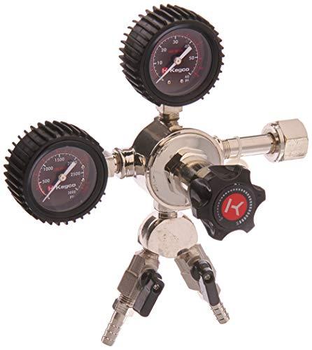 Kegco LHU52-2 Elite Series Dual Gauge CO2 Draft Beer Regulator, 2 Product