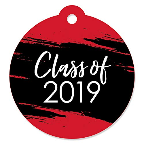 (Red Grad - Best is Yet to Come - Red 2019 Graduation Party Favor Gift Tags (Set of 20) )