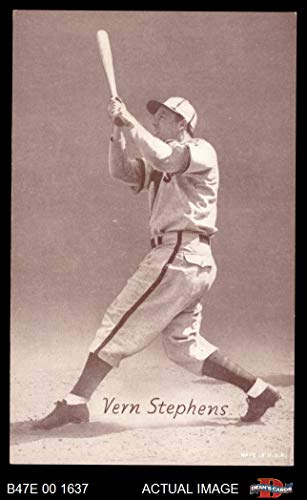 (1947 Exhibits STB Vern Stepehens St. Louis Browns (Baseball Card) (Team is Browns) Dean's Cards 5 - EX Browns)