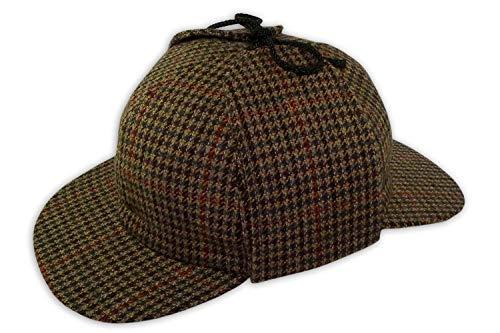 5cf84d48 PASQUALE CUTARELLI Mens Wool Tweed Deerstalker Hat (9167) Brown 55cm