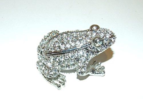 Frog Swarvoski Crystal Bejeweled Trinket Box