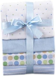 4 Count Blue Dots Luvable Friends Flannel Receiving Blankets