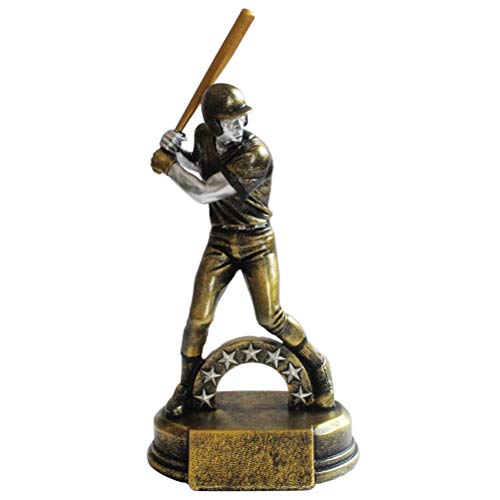 Zmmyr Baseball Character Wall Sculptures Statues Resin Trophy Decorative Ornaments Home Decoration Crafts