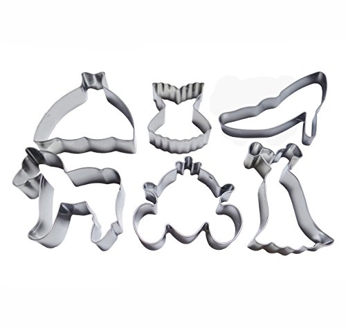 - Yunko 6pcs Cinderella's Ball Stainless Steel Cookie Cutter Fondant Cutter Cake Decorating Tools Pumpkin Carriage Crystal Shoes