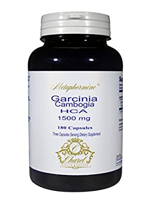 Garcinia Cambogia HCA 1500mg - Hydroxycitric Acid All Natural Proven Weight Loss Supplement - Organic, Non-GMO, Gluten Free 180 Capsules (60 Day Supply)