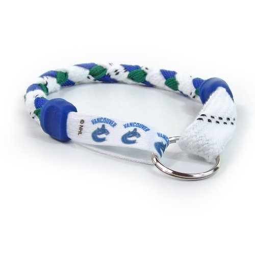 Vancouver Canucks Hockey Skate Lace Keychain by Swannys