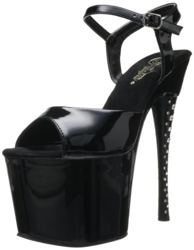 Pleaser Extrem Plateau High Heels DIAMOND-709 - Schwarz 43,5 EU