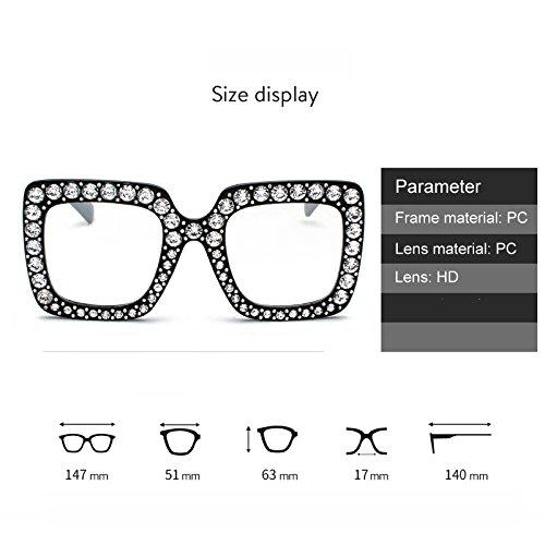 grande Oversized Plaza Sol Gafas C2 Eyewear Design Elegante Bmeigo Mujer UV400 Sparkling Gafas De q8wEgU