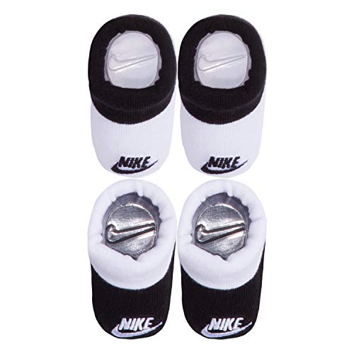 NIKE Children's Apparel Baby Bootie (2 Pack), black/White, 0/6M (For Shoes Boys Baby Nike)