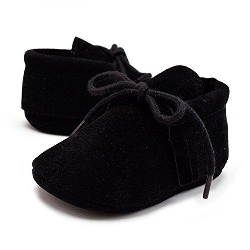 Vlunt Baby Lauflernschuhe Quasten Weiche Beiläufige Schuhe Schwarz