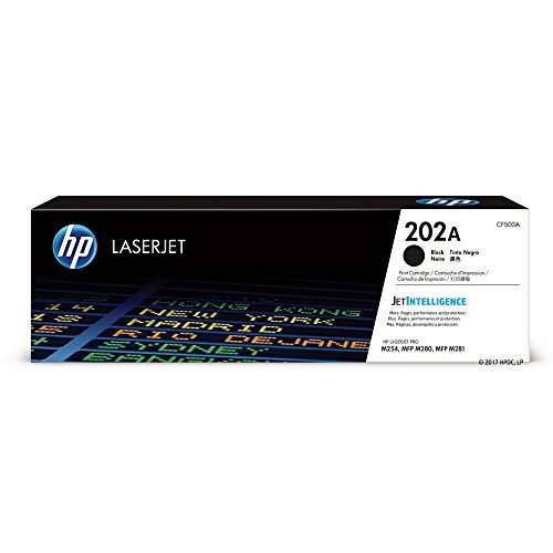 (HP 202A (CF500A) Black Toner Cartridge  for HP LaserJet Pro M254 M281cdw M281dw)