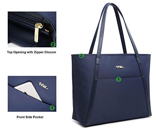 NNEE Large Water Resistance Nylon Travel Tote Shoulder Bag - Navy by NNEE Inc (Image #2)