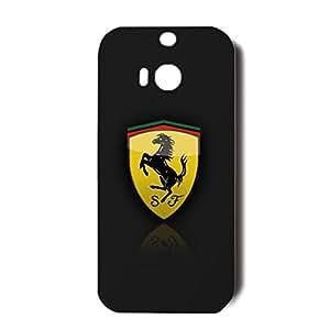 Classical Design Ferrari Logo Phone Case 3D Fantastic Hard Skin for Htc One M8 with Ferrari Logo