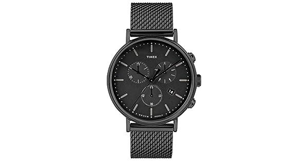 095c312910f3 Timex Fairfield Chrono Black TW2R27300  Amazon.com.mx  Relojes