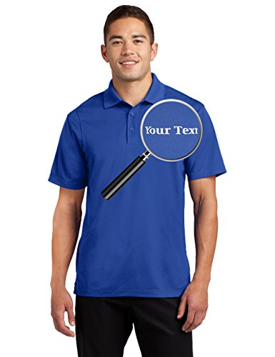 Custom Embroidered Moisture Wicking Performance Polo - Embroidery Collar Shirts True Royal