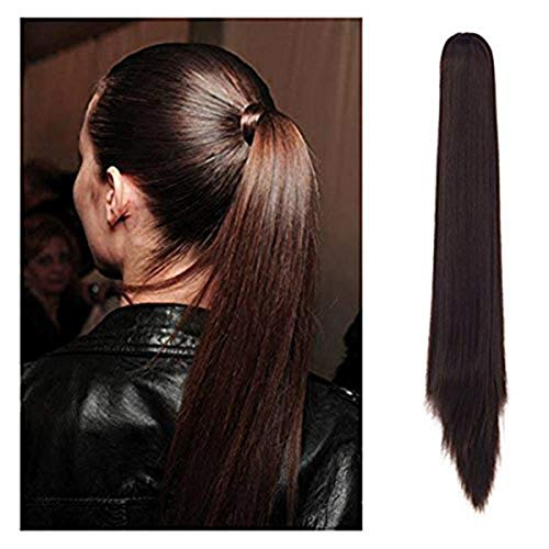 Straight Pony - FUT Womens Claw Ponytail Clip in Hair Extensions 21 inches Long Straight Hairpiece