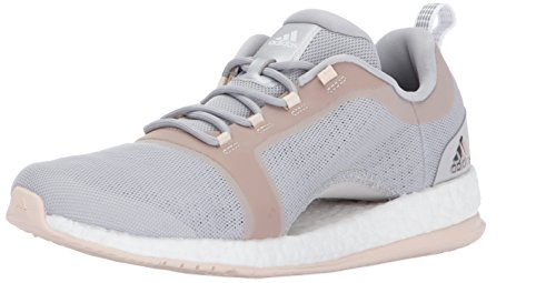 adidas Originals Women's Shoes | Pureboost X TR 2 Running, Grey Two/White/Linen, (9 M US)