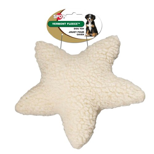 Ethical Pet Vermont Fleece Dog Toy, 8-Inch, Star
