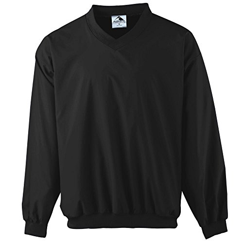 Augusta Sportswear Micro Poly Windshirt/Lined, X-Large, Black