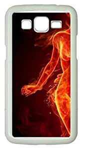 Fire Lady5 Polycarbonate Hard Case Cover for Samsung Grand 2/7106 White