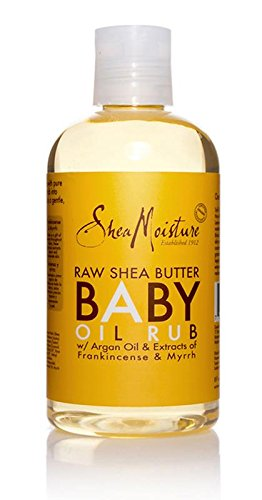 SheaMoisture Raw Shea Butter Baby Oil Rub,8 oz (Raw Body Oil)