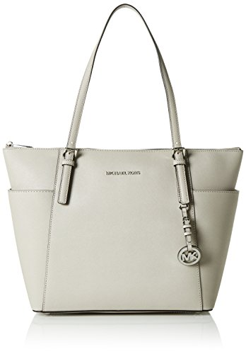 Leather Top Zip Large Tote (MICHAEL Michael Kors Jet Set Large Top-Zip Leather Tote (Cement))