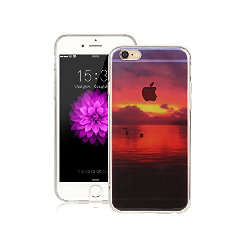 Für Apple iPhone 6 / iPhone 6S (4.7 Zoll) Hülle ZeWoo® TPU Schutzhülle Silikon Tasche Case Cover - AK011 / Dawn