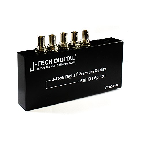 J-Tech Digital ® Premium Quality SDI Splitter 1x4 supports SD-SDI, HD-SDI, 3G-SDI up to 1320 Ft (1 input and 4 outputs)