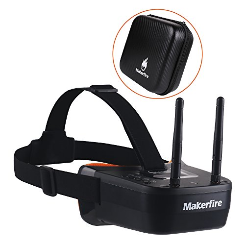 Read About Makerfire 5.8Ghz Mini FPV Goggles 3 inch 40CH FPV Video Headset Glasses with Double RP-SM...