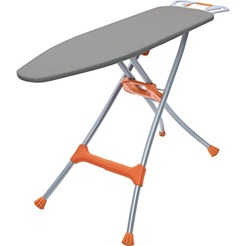 Homz Durabilt Premium Steel Top Ironing Board, Gray