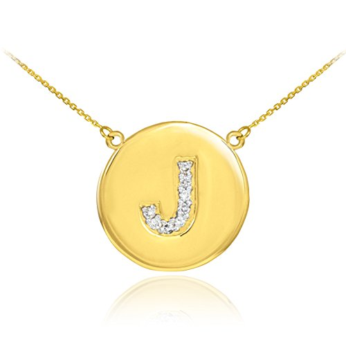 Fine 14k Yellow Gold Letter