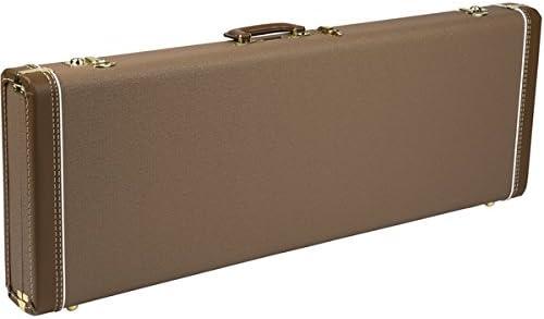 Fender Etui Deluxe Brown Strat/tele gold plush interior: Amazon.es: Instrumentos musicales