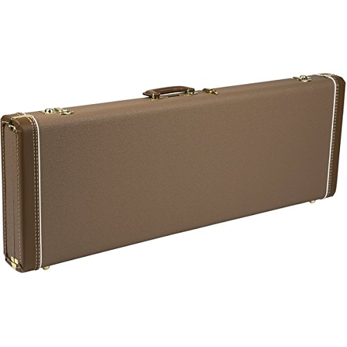 Fender Hardshell Case (Fender Deluxe Strat/Tele Case, Brown with Gold Plush Interior)