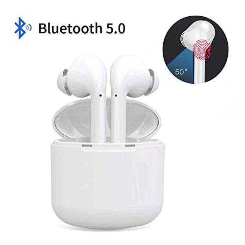 - Maratt True Wireless Stereo Earbuds Bluetooth Headset in-Ear Earbuds Sports Headset,Bluetooth 5.0 Auto Pairing with Charging Case compatible for Airpods Android/iPhone(White)