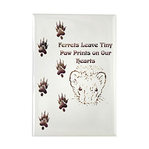 (CafePress Tiny Paw Prints w/Face(Stone) Rectangle Magnet Rectangle Magnet, 2