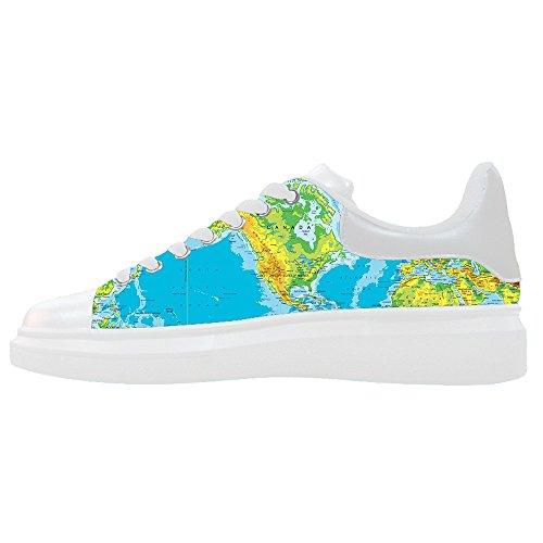 Precios Baratos Auténtica Venta Venta Barata Custom Mappa del mondo Womens Canvas shoes Le scarpe le scarpe le scarpe. Ubicaciones De Los Centros Barato En Línea 1GmrK3U