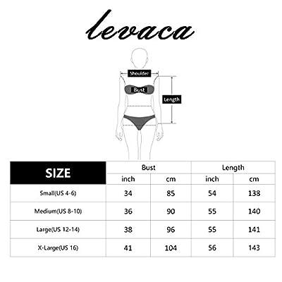 Levaca Women's Long Sleeve Pockets Pleated Loose Swing Casual Maxi Dress
