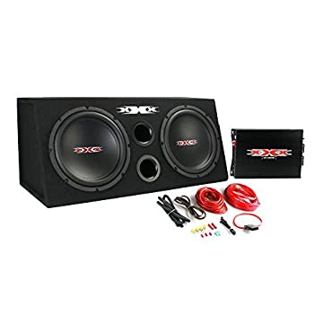 XXX XBX-1000B 10 1000W Car Subs+Amplifier+Amp Kit+Sub Box Audio Bass Enclosure