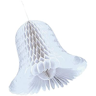 Medium White Bridal Honeycomb Bells 2ct | Wedding and Engagement Party: Kitchen & Dining