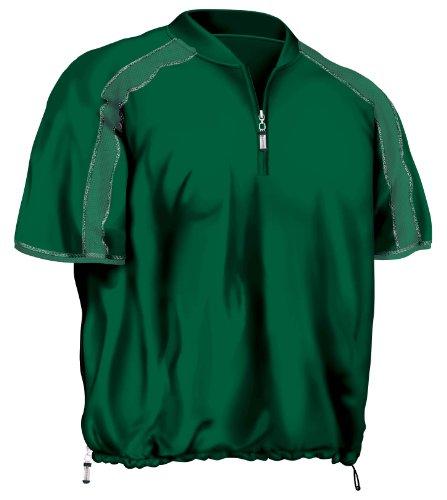 (Easton Short Sleeve Pro Trorque Batting Cage Jacket, Green, Large)