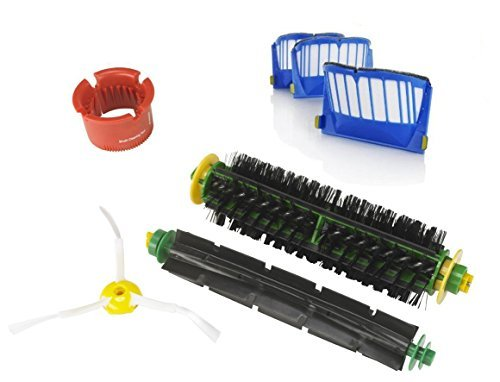 SHP-ZONE Bristle Brush & Flexible Beater Brush & 3-armed Side Brush & 3 x Aero Vac Filter Cleaning Tool Kit for iRobot Roomba 500 Series Roomba 536 550 55 552 564 (only compatible with AeroVac Bins) (Irobot Roomba 500 Aerovac compare prices)