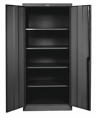 Hallowell Commercial Storage Cabinet - 48''Wx18''Dx72''H - Set Up - Black - Black by Hallowell