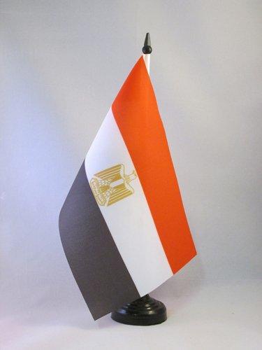 AZ FLAG Bandiera da Tavolo Egitto 21x14cm - Piccola BANDIERINA EGIZIANA 14 x 21 cm