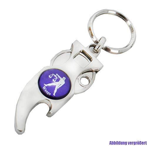 Astro Schlüsselanhänger mit Einkaufswagenchip SternzeichenSTEINBOCK