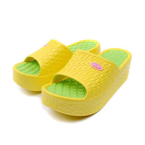 Zapatos Moda Mujer De Logobeing Plataforma Verano Playa Amarillo 2019 Sandalias YCIwq