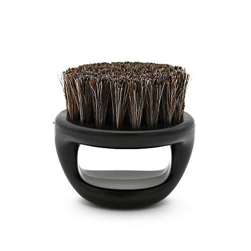 TOOGOO 1 Pcs Ring Design Hor Bristle Men Shaving Brush Plastic Portable Barber Beard Brushes Salon Face Cleaning Razor Brush(black) ()
