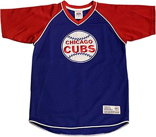 (Chicago Cubs Youth Jersey T-Shirt V-Neck Stitched Baseball Logo 12794 (Large))