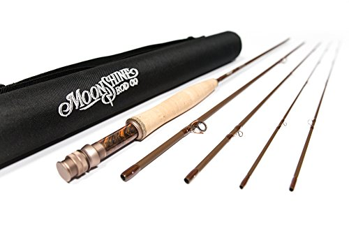 Moonshine Rod Co. The Drifter Series Fly Fishing Rod (Matte, 4WT 8'6