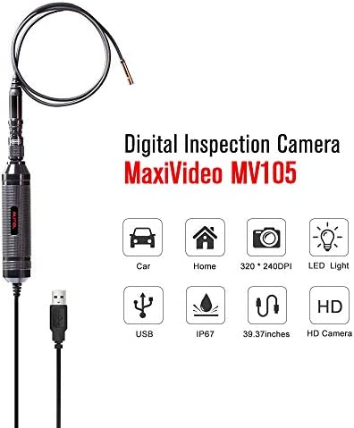 Autel Inspektionskamera Mv105 5 5 Mm 1080p Hd Video Für Autel Maxisys Series Ms908p Ms908 Produkte Digitalen Spreicherndaten Und Videos Aufnehmen Für Auto Diagnose Auto